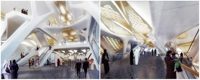 Золотая станция метро в Эр-Рияде, Саудовская Аравия