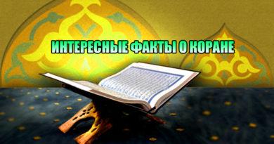 Интересные факты о Коране