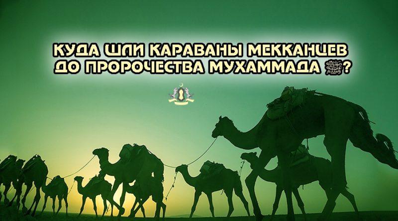 Куда шли караваны мекканцев до пророчества Мухаммада ﷺ?