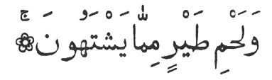 Коран, 56: 21