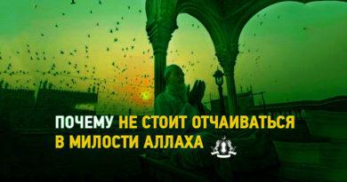 Почему не стоит отчаиваться в милости Аллаха