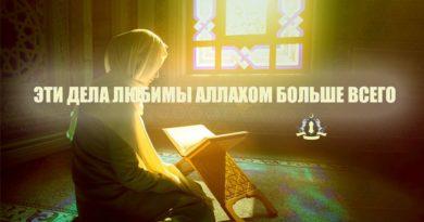 Эти дела любимы Аллахом больше всего
