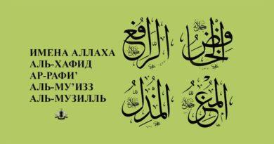Что значат имена Аль-Хафид, Ар-Рафи', Аль-Му'изз и Аль-Музилль?